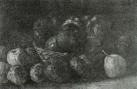Vincent van Gogh Still life with a basket of apples
