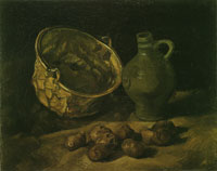 Vincent van Gogh Still life with brass cauldron and jug