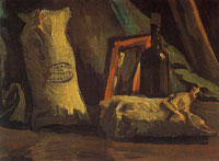 Vincent van Gogh Still life with two sacks and a bottle