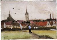 Vincent van Gogh View of The Hague with the New Church