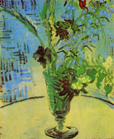 Vincent van Gogh Glass with Wild Flowers