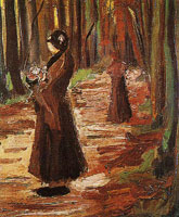 Vincent van Gogh Two women in a wood