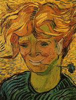 Vincent van Gogh Young Man with Cornflower