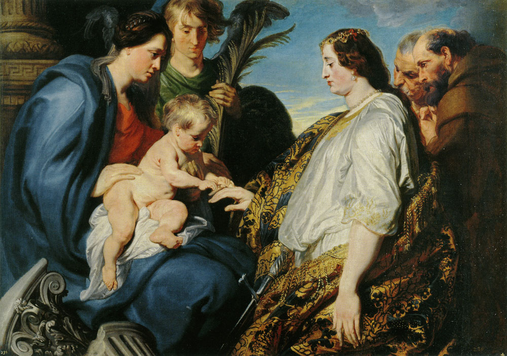 Anthony van Dyck - The Mystic Marriage of Saint Catherine