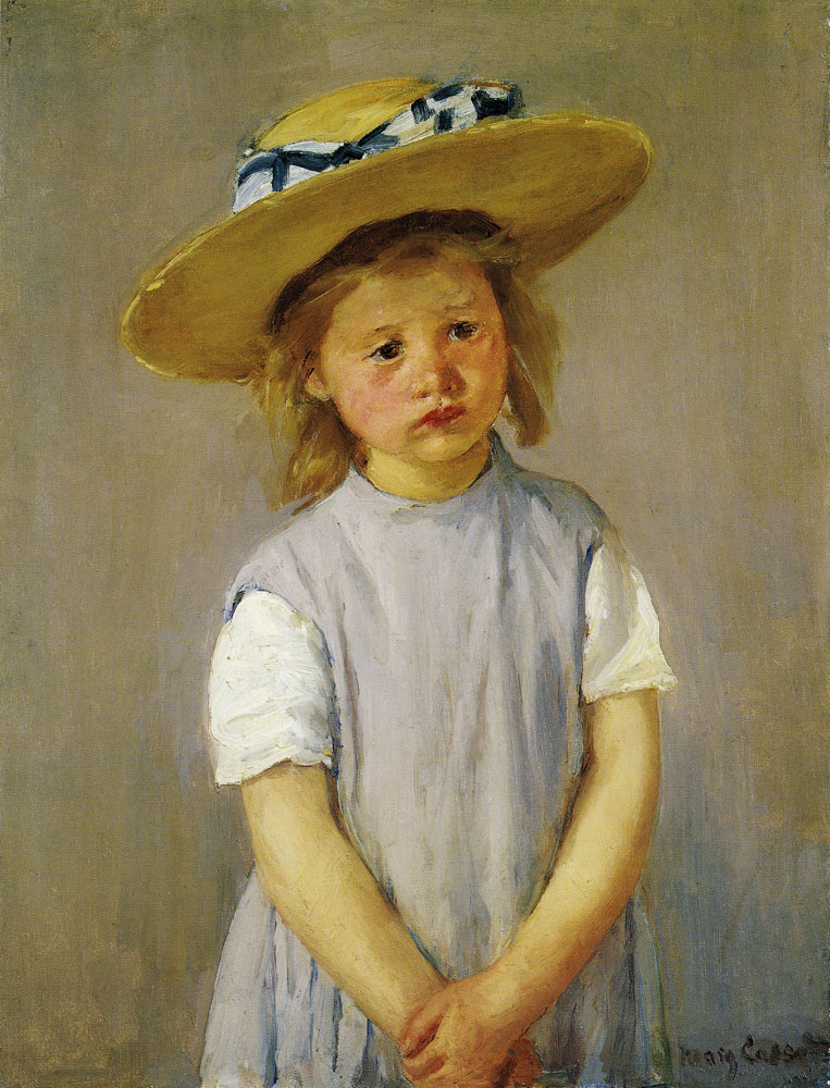 Mary Cassatt - Little Girl in a Big Straw Hat and a Pinafore