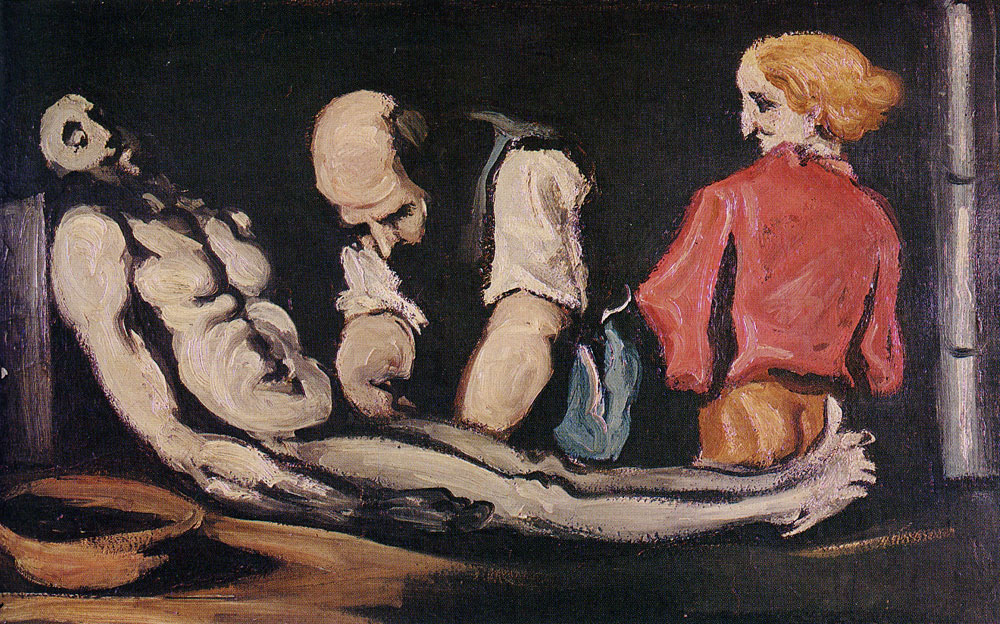 Paul Cézanne - Preparation for the Funeral, or The autopsy