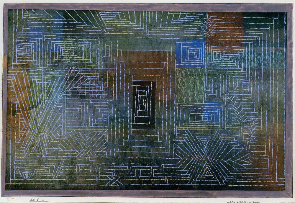 Paul Klee - Castle to be Built in the Woods