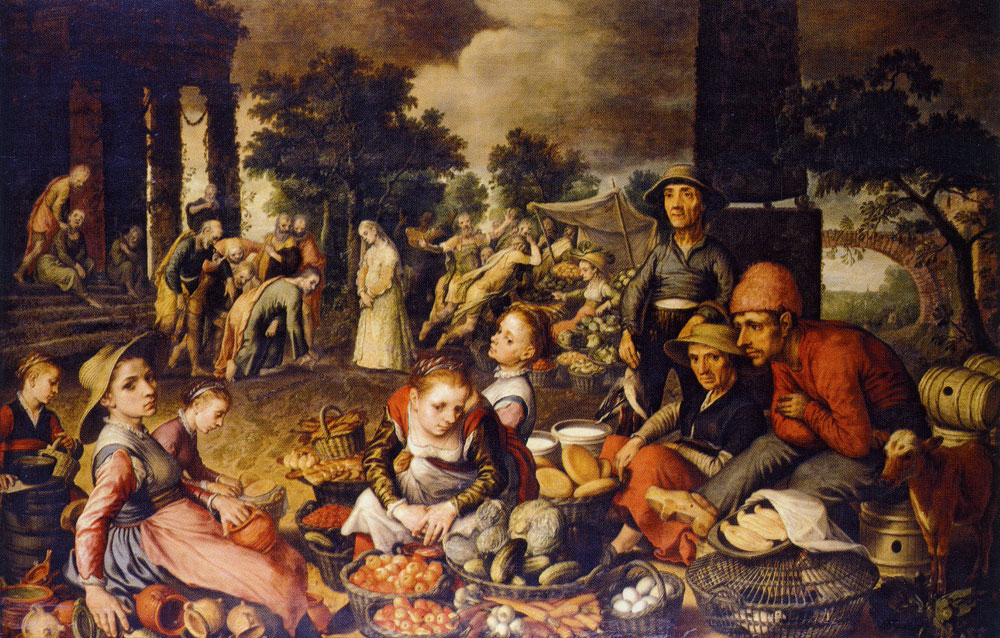 Pieter Aertsen - Christ and the adulterous woman