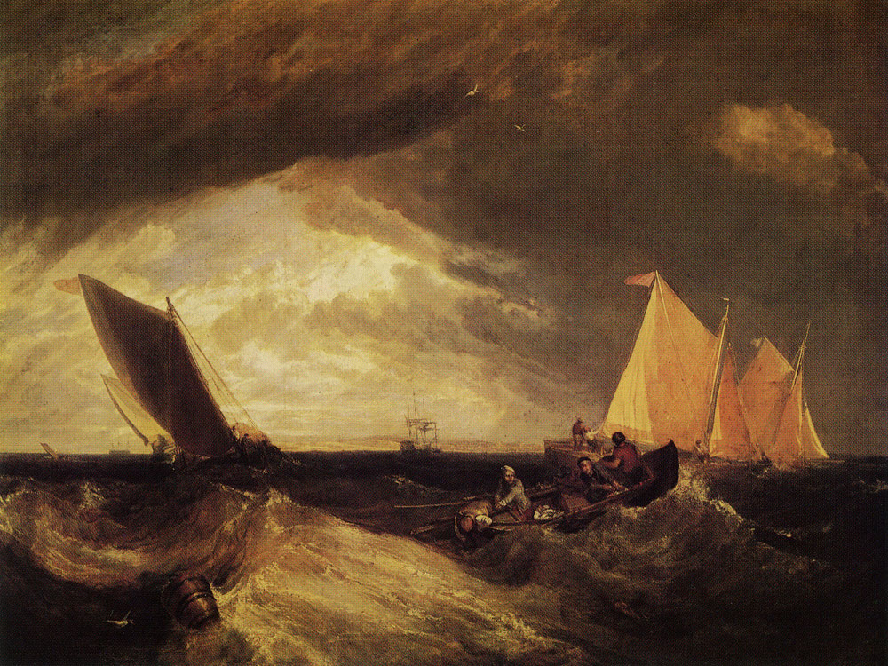 J.M.W. Turner - The Junction of the Thames and the Medway