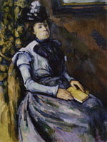 Paul Cézanne Lady with a book