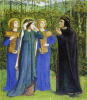 Dante Gabriel Rossetti - The Meeting of Dante and Beatrice in Paradise