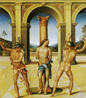 Francesco Bacchiacca The flagellation of Christ