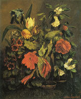 Gustave Courbet Still Life of Flowers