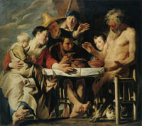 Jacob Jordaens - The Satyr and the Farmer's Family