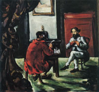 Paul Cézanne Paul Alexis reading at Zola's house