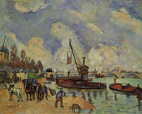 Paul Cézanne The Seine at Bercy, near Guillaumin