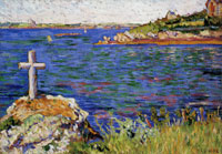 Paul Signac The Mariners' Cross at High Tide, Saint-Briac