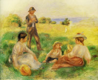 Pierre-Auguste Renoir Party in the Country at Berneval