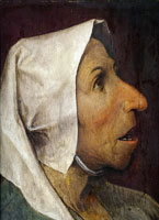 Pieter Bruegel the Elder - Head of a peasant woman