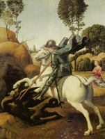 Raphael St. George and the dragon
