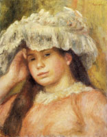 Pierre-Auguste Renoir Young Girl in a Hat