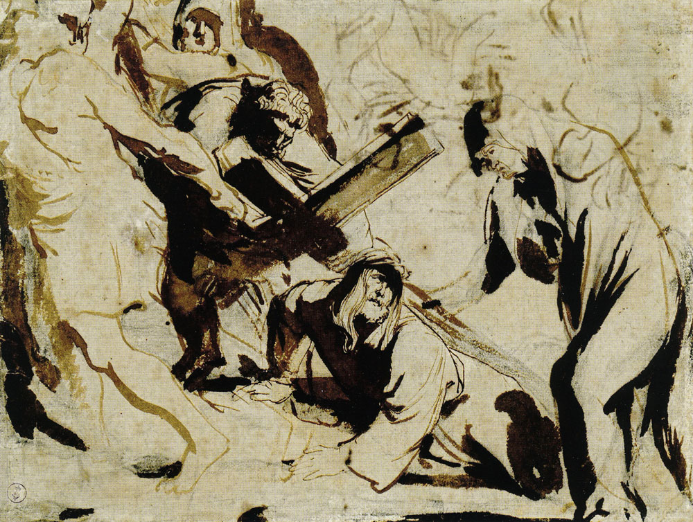 Anthony van Dyck - Study for Christ Carrying the Cross