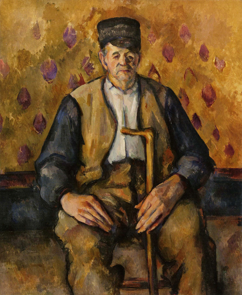 Paul Cézanne - Seated peasant