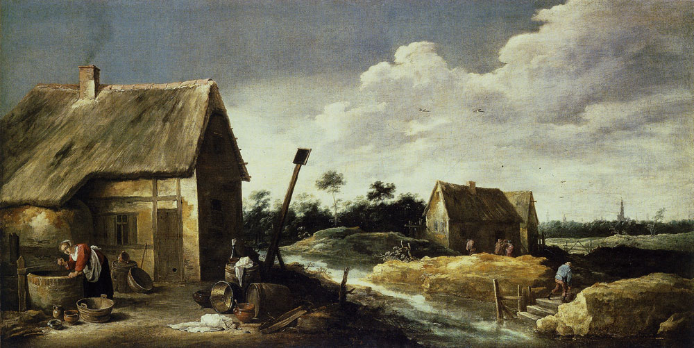 David Teniers the Younger - Landscape with a Maid at a Well