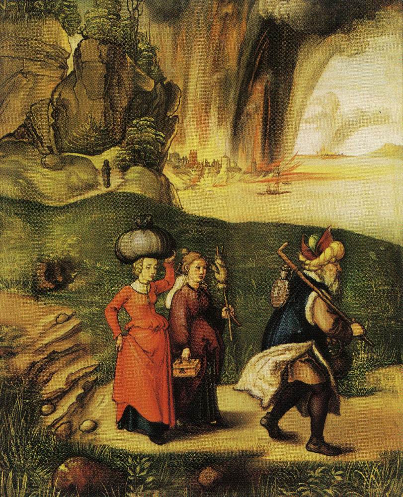 Albrecht Dürer - Lot and his daughters