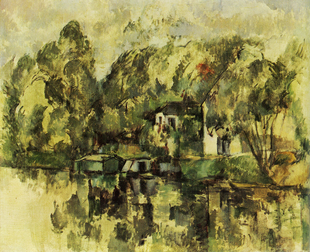 Paul Cézanne - At the water's edge