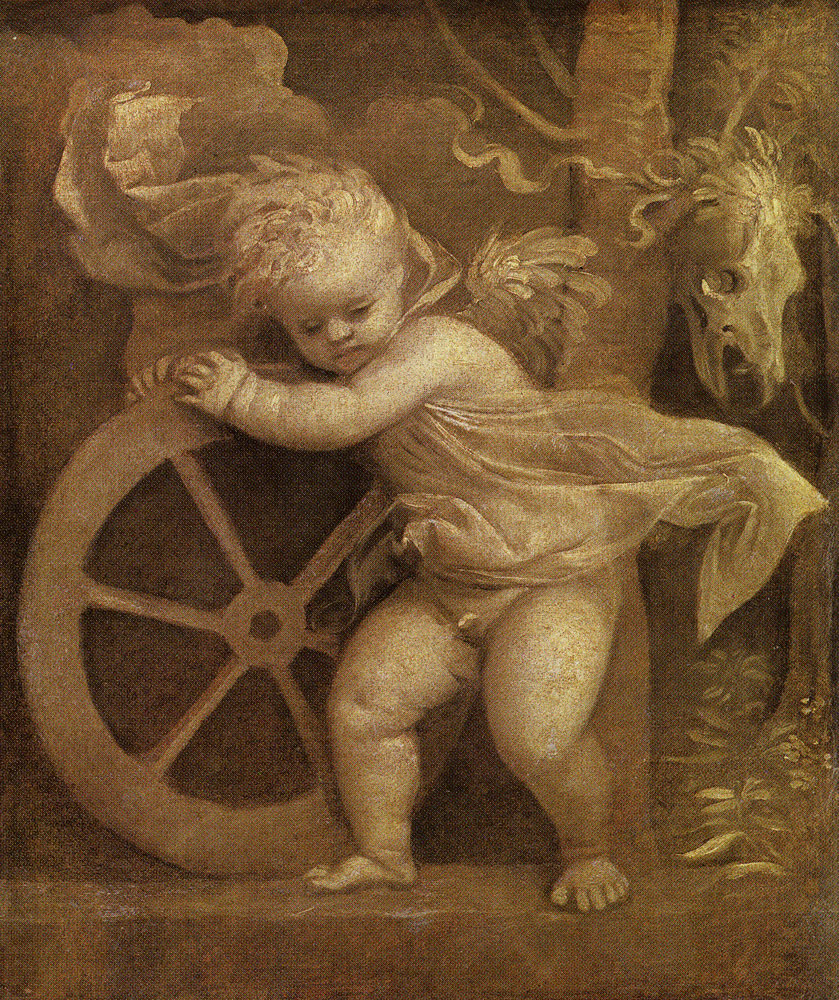 Titian - Cupid with the Wheel of Fortune