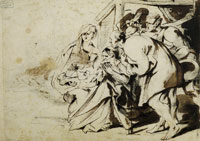 Anthony van Dyck - Study for The Adoration of the Shepherds