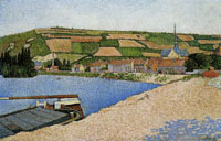 Paul Signac Hillside from Downstream, Les Andelys