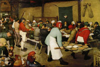 Pieter Bruegel the Elder Peasant wedding feast