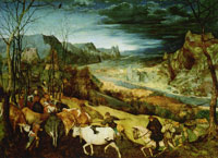 Pieter Bruegel the Elder Return of the herd
