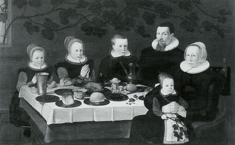 Unidentified artist - Family at Table