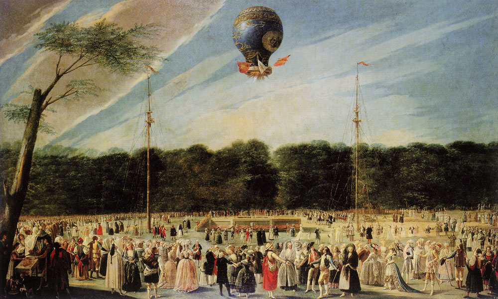 Antonio Carnicero - The Ascent of Monsieur Boucié's Montgolfier Balloon in the Gardens of Sranjuez, Madrid, June 5, 1784