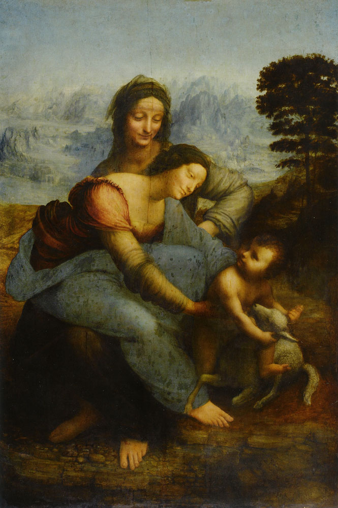 Leonardo da Vinci - The Virgin and Child with Saint Anne