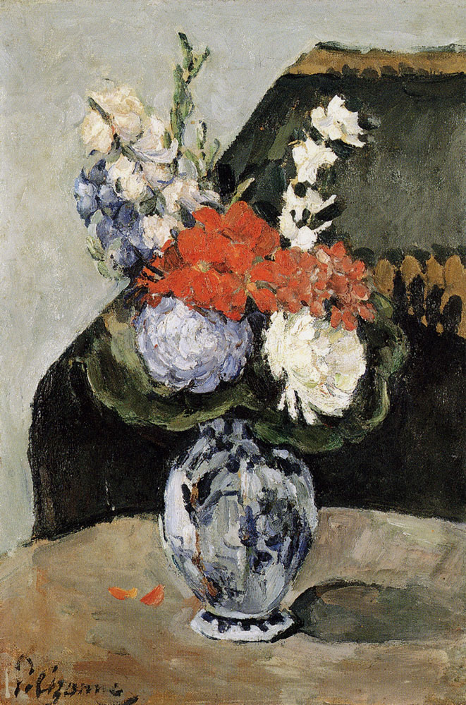 Paul Cézanne - Bouquet of flowers in a Delft vase