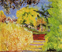Pierre Bonnard Stairs in the Artist's Garden