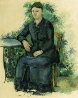 Paul Cézanne Madame Cézanne in the garden