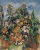 Paul Cézanne Rocks and Trees