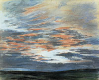 Eugène Delacroix Study of the Sky at Sunset