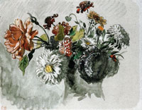 Eugène Delacroix Bouquet of Flowers