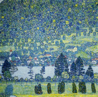 Gustav Klimt Forest Slope in Unterach on the Attersee