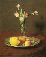 Henri Fantin-Latour Lemon, Apples and Tulips