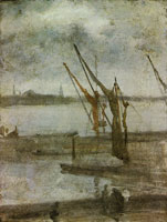 James McNeill Whistler Chelsea Wharf: Grey and Silver