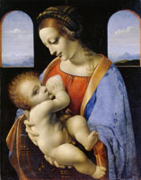 Leonardo da Vinci - Virgin and Child ('The Madonna Litta')