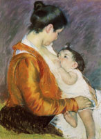 Mary Cassatt - Young Mother Nursing Her Child