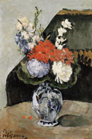 Paul Cézanne Bouquet of flowers in a Delft vase